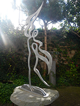aluminum sculpture by Donna Corbani